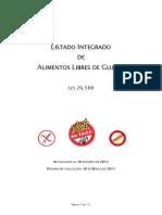 Listado de Alimentos Libres de Gluten 2013