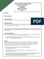 October 19, 2015 Draft Agenda Outline