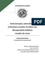 Autoconcepto, autoestima y relaciones sociales en niños con discapacidad.