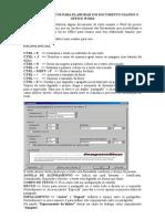 Comandos Básicos Para Elaborar Um Documento Usando o Office Word