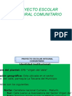 Peic La Formación Integral de Los Niños y Niñas Garantizará El Vivir Viviendo en El Sector Virgen Del Valle