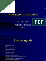 MKTG600 Week 1 Lecture Framework