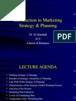 MKTG600 Week 2 Lecture Framework