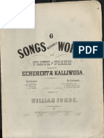 Schubert Barcarolle 6 Songs Without Words 1