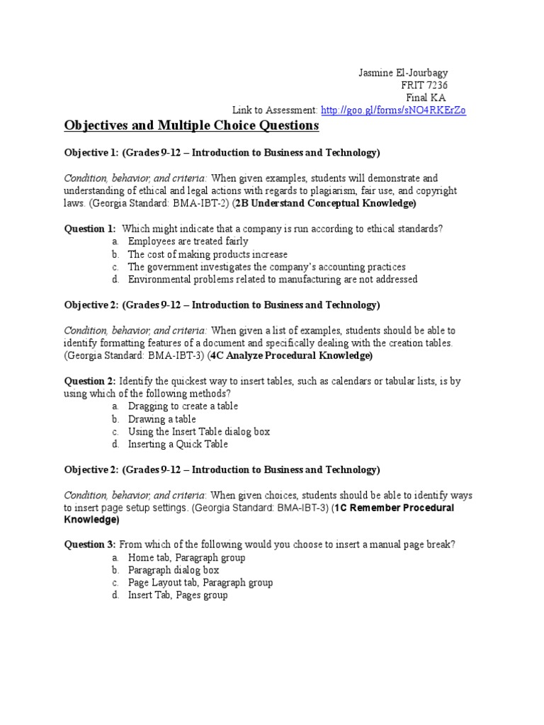 El Jourbagy Ka1 Differentiated Instruction Educational Assessment