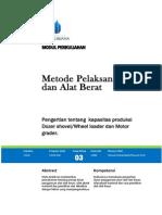 Modul 3 Mpab - Shovel - Loader - Motor Grader
