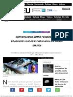 Pesquisador Brasileiro Que Descobriu Água Em Marte