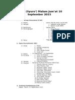 Rapat Malam Jumat 10 September 2015