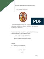 Analisis Comparativo de Las Polit. Econ. de Chile y Arg. Segun El Indice de Libertad Econ. 2008-2014