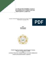 Cover Laporan Praktek Pembelajaran
