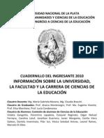 INFORMACIÓN SOBRE LA UNIVERSIDAD, LA FACULTAD Y LA CARRERA DE CIENCIAS DE LA EDUCACIÓN