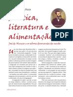 Politica, Literatura e Alimentação