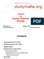 Mech Ocean Thermal Energy Ppt