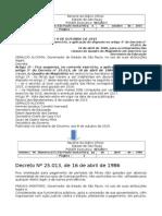 09.10.15 Decreto 61546 Suspende Artigo 5º Do Decreto 25015 - Férias Exercício 2015