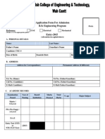 Admission Form2015 New