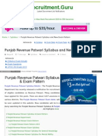 Www Recruitment Guru Syllabus Punjab Revenue Patwari Syllabu
