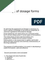 Design of Dosage Forms