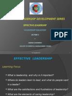 Effective Leadership Lec 2 'Leadership Equation'