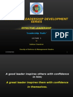 Effective Leadership Lec 5 - Leadership Traits