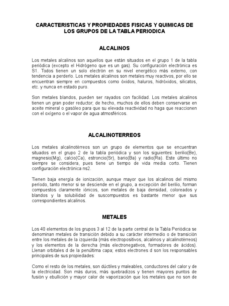 Caracteristicas y propiedades fisicas y quimicas de los grupos de la caracteristicas y propiedades fisicas y quimicas de los grupos de la tabla periodica urtaz Choice Image