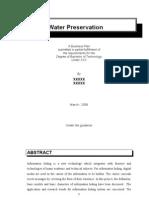Water Preservation