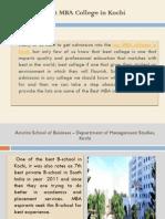 Best MBA College in Kochi