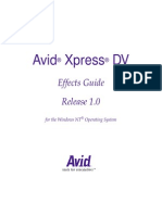 Avid Xpress DV Effects Guide