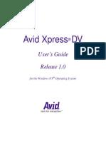 Avid XpressDV User Guide