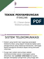 It-041246_teknik Penyambungan_p1 [Dasar-dasar Telekomunikasi]