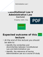 Constitutional Law v Administrative Law