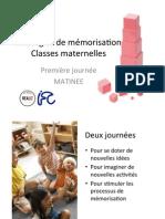 Support cours de MEMORISATION CLASSES MATERNELLES