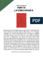 Nancy Jean-Luc - Verità Della Democrazia