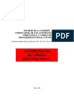 Anteproyecto de Código Procesal Penal Revisado