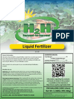 Harvest to Harvest Liquid Fertilizer Label