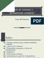 Riechmann, Sistemas y Pens. Complejo 2015