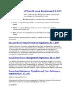 Environmental Regulations