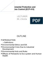 Environmental Protection and Pollution Control (ECP 415