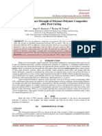 Improve the Impact Strength of Polymer-Polymer Composites  after Post Curing