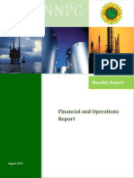 NNPC Monthly Financial and Operations Report August 2015