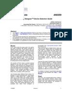 13283717 Psoc Designer Device Selection Guide