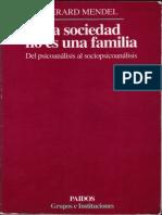 La Sociedad No Es Una Familia - Mendel Gerard