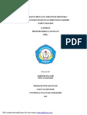 Contoh Laporan Magang Mahasiswa Akuntansi Pdf Kumpulan Contoh Laporan