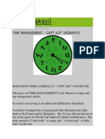 Ajit Vadakayil_Time Management