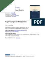 Burbidge, John (2014) - Hegel's Logic as Metaphysics
