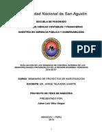 Perfil Proyecto de Tesis- Jaime Vilca Vargas