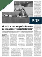 """151010 LaVerdadCG- Picardo Acusa a España de Tratar de Imponer El """"Neocolonialismo"""" p.7"""