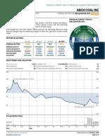 Arch Coal 2015 Debt Exchange