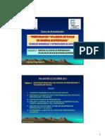 Gestion de Costos de Perforacion y Voladura de Rocas en Mineria Subterranea