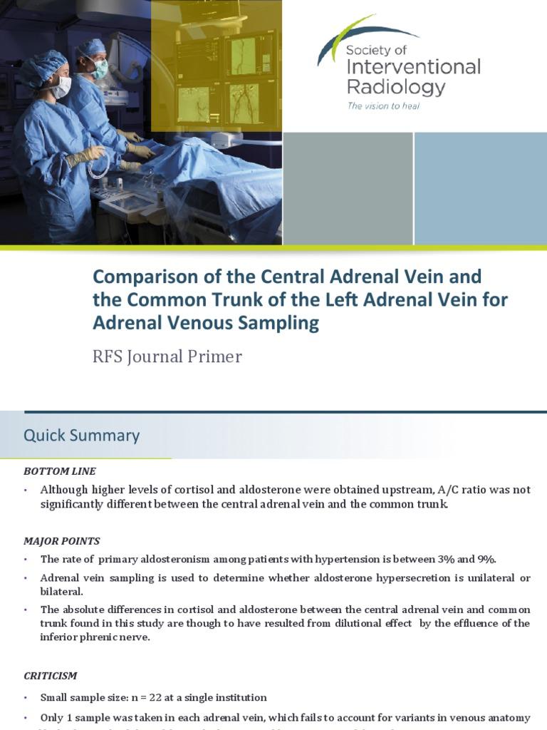 Adrenal Vein Sampling | Adrenal Gland | Vein