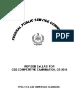 CE 2016 Syllabus
